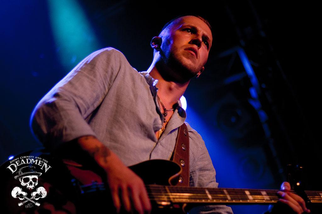 """Dennis Adamus beim Konzert """"Jimmy Cornett and the Deadmen"""" in Hamburg, Markthalle am 04.10.2019. Fotos: Daniela Stelter"""