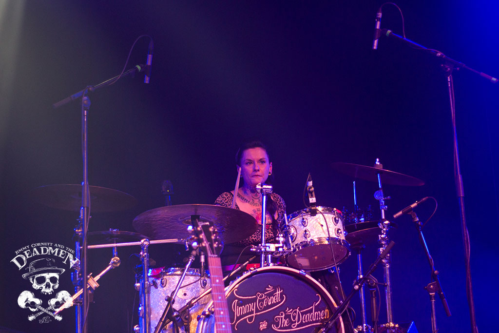 "Claudia Lippmann beim Konzert ""Jimmy Cornett and the Deadmen"" in Hamburg, Markthalle am 04.10.2019. Fotos: Daniela Stelter"