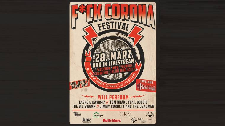 Pressemitteilung: F*ck Corona Festival soll ein digitales Solidaritätserlebnis werden